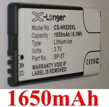 Batterie 1650mAh type BP-5T Pour Nokia Arrow, Nokia Lumia 820.2 Lumia 820 825
