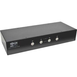 Tripp Lite 4-Port DisplayPort KVM Switch w/Audio, Cables and USB 3.0 SuperSpeed