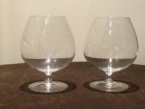 Two 2 Riedel Vinum Brandy Cognac Snifters Glasses Immaculate NR
