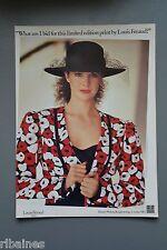 R&L Ex-Mag Advert: Louis Feraud Limited Poppy Print 1980's Jacket Harvey Nichols