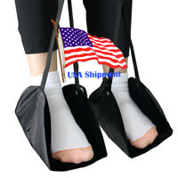 Portable Flight Seat Foot Rest Carry-on Footrest Travel Office Feet Hammock BK