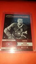 12/13 Certified Jean Beliveau Certified Icons /250 !! CANADIENS
