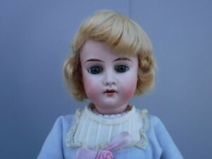 """Antique French or German Bisque Head Doll 4/0 18"""""""