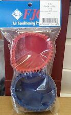 """Rubber Gauge Protectors Fits 3-1/8"""" OR 80 MM Gauges RED & BLUE, F.J.C.# 6150"""