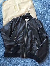 burberry new men leather jacket size 56