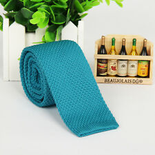 Men's Solid Knit Knitted Tie Necktie Fashion Slim Tie Narrow Skinny Woven New