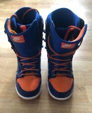 NIKE SB Vapen Mens Snowboard Boots Snow Blue Orange UK10
