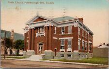 Public Library Peterborough Ontario ON c1912 Antique Postcard D63