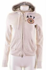 ABERCROMBIE & FITCH Womens Hoodie Sweater Size 10 Small Beige Cotton  MX91