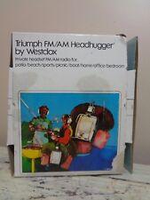 Vintage Triumph AM/FM Head Hugger Radio Headphones 80139 Westclox
