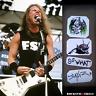 "James Hetfield guitar stickers ""SO WHAT"" Gibson Explorer decal set 4"