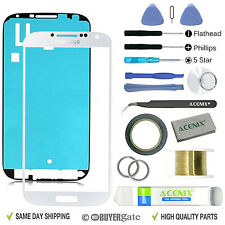 SAMSUNG GALAXY S4 White Replacement Screen Front Glass lens Repair Kit+ 2mm Tape