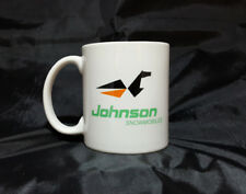 Reproduction Vintage Johnson White Snowmobile Coffee Mug (011)