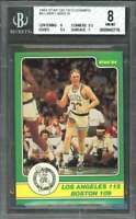 Larry Bird Card 1984 Star Celtics Champs #4 Boston Celtics BGS 8 (8 9.5 9.5 7)