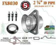"FX8030 2 1/4"" Semi Direct Fit Exhaust Flared Y Pipe Triangle Flange Repair Kit"