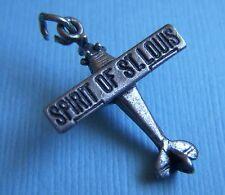 Vintage Spirit of St. Louis Charles Lindbergh airplane sterling charm