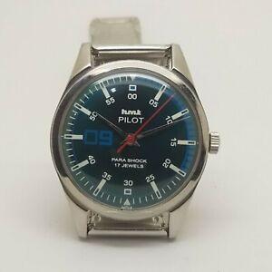 Vintage HMT Pilot Hand Winding mechanical Men's Wrist Watch