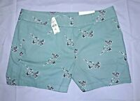 Ann Taylor Loft Outlet Tropical Teal Blue Shorts Size 10 NWT Tropical Summer NEW