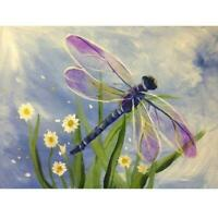 Dragonfly DIY 5D Full Drill Diamond Painting Embroidery Cross Stitch Craft Kit