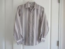 Foxcroft wrinkle free sz 4P multi-color stripe cotton blend long sleeve blouse