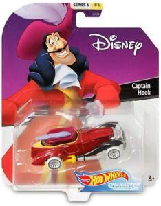 Disney Hot Wheels Captain Hook Character Car Peter Pan