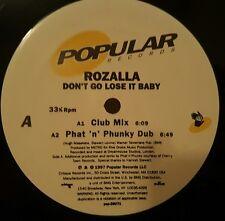 "Rozalla - Dont Go Lose It Baby 12"" 33RPM VInyl Record pop-26071"