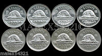 🇨🇦1997 1998 1999 2000 2001 2002 2003 CANADA 5 CENTS SET UNCIRCULATED (8 COINS)