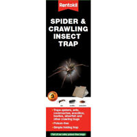 Rentokil Pack of 3 Spider & Crawling Insect Beetle Ants Cockroaches Pest Trap