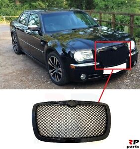 FOR CHRYSLER 300C 04-10 BENTLEY LOOK FRONT CENTER GRILLE MESH STYLE BLACK