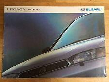 Subaru Legacy brochure c1995 - GL, GLX, GX, Saloon and Estate