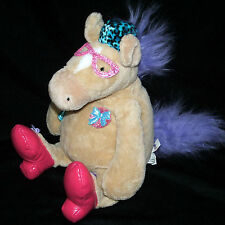 Manhattan Toy Tiptoe Touche Tan Horse Agnes Hat Glasses Shoes Plush Purse 14""