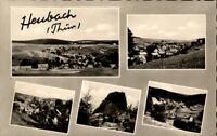 Heubach Thüringen  DDR Mehrbildkarte 1961 gelaufen Gesamtansichten Felder Wiesen