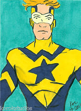 BOOSTER GOLD Sketch Card by Korey, Justice League