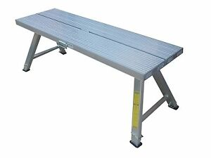 2.0m Aluminium Plasterer Work Platform Trestle - High 550-800mm - Double width