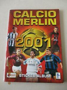 Calcio Merlin 2001 Sticker Album Unused / Empty includes League Ladders Unused