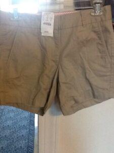 JCREW ladies Size 00 Khaki Shorts, $39.50, NWT