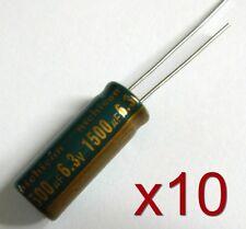 10x condensateur 6.3V 1500uF radial / 10x Electrolytic Aluminium Capacitor