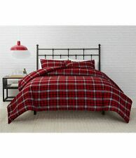 PENDLETON RED CANYON PLAID 3 Pc FULL / QUEEN COMFORTER  SHAMS NEW RED