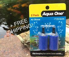 "Air Stone - Two-Pack Cylinders - 1""/2.5cm Aqua One"
