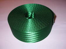 Car Seat Belt Webbing Green Roll Fabric Strap 10 Metres