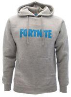 Felpa Fortnite Originale con cappuccio ufficiale grigia scritta logo cappuccio