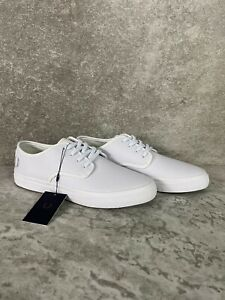 2020 Fred Perry B7104 - A19 Authentic Shoes Leather White US 9 EU 42