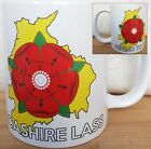 LANCASHIRE MUG, Proud To Be A Lancashire Lass, Lancashire Rose and County on Mug