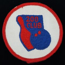 Vintage 200 Club Bowling Patch Round Red White Blue