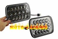 "2X 7X6"" LED Cree Light Bulbs Crystal Clear Sealed Dual Beam Headlamp Headlight M"