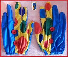 CLOWN Spots Dots GLOVES 1 pair ~ Circus Carnival Mardi Gras Comedy Costume Party