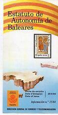 España Estatuto de Autonomía de Baleares año 1984 (CW-543)