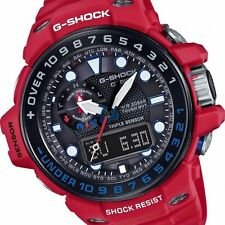 *NEW* CASIO MENS G SHOCK AVIATION RED WATCH TRIPLE SENSOR GWN1000RD-4A RRP£499