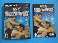 NO GAME- PS2 UFC SUDDEN IMPACT - CASE & MANUAL ONLY - NO GAME
