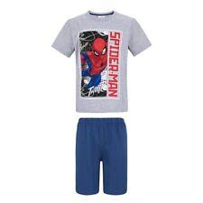 Boys SPIDERMAN Short Sleeve Pyjamas T-shirt & Shorts,Age 4-10 OFFICIAL,New